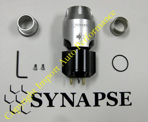 "Synapse Engineering Synchronic Blow-Off Valve (BOV) with VW/Audi-style 1"" diameter Hose End Kit Bundle"